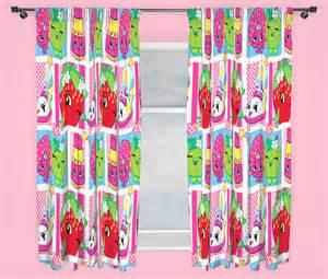 Shopkins shopaholic curtains 66 inch wide by 54 inch drop 168cm x