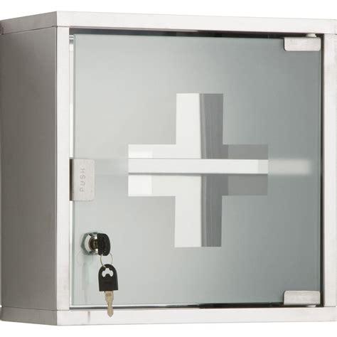 Armoire à pharmacie l.30 cm, imitation métal, Roma   Leroy