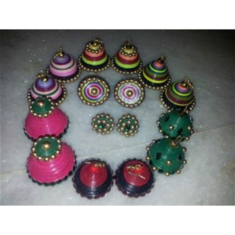 How To Make Paper Jhumkas At Home - shop paper quilling jhumkas from kalpana s shopclues