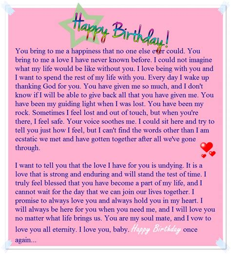 Letter For Birthday Happy Birthday Letter To Boyfriend My