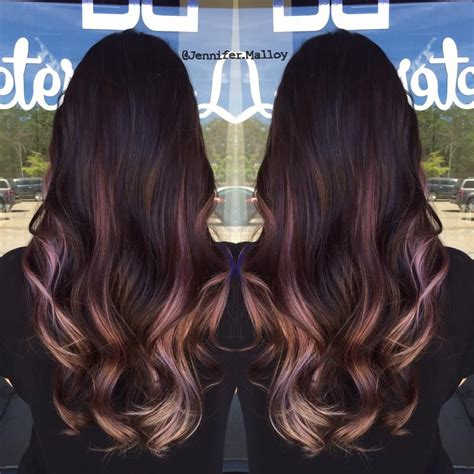 ombre hair for brunettes so beautiful brunette ombre with lilac pink blonde by