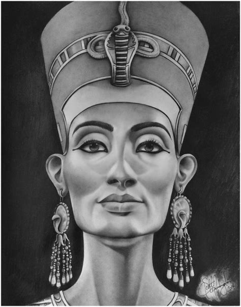 queen tattoo drawings queen nefertiti tattoo drawing tattoos pinterest