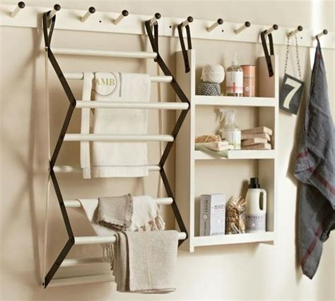 Laundry Drying Rack Ideas by Space Saving Racks Adding Eco Accents To Laundry Room Design