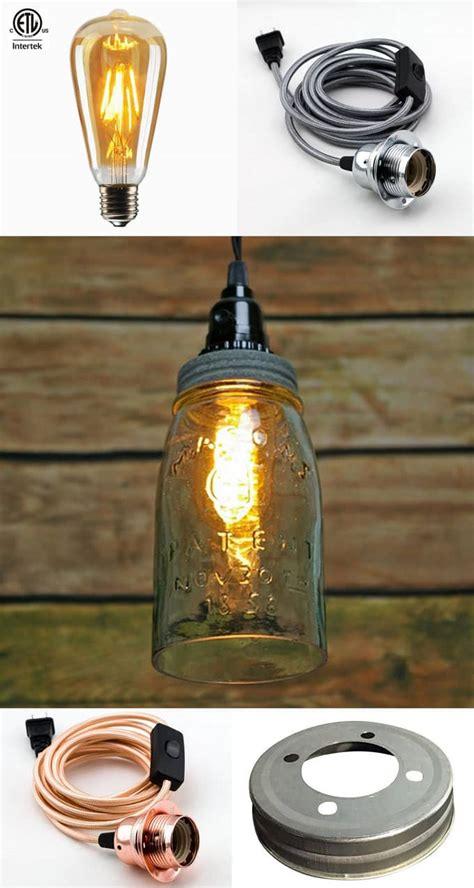 mason jar pendant l kit canning jar light kit affordable pack custom aluminum