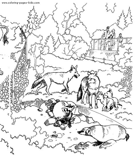 coloring book pages zoo animals animals