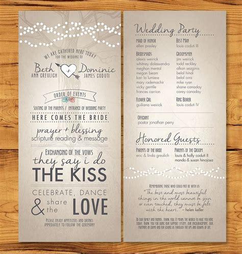 wedding invitation application in wedding programs with non tradition ceremony