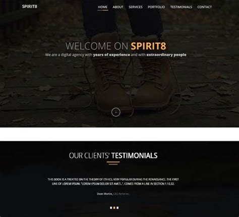 bootstrap theme free black bootstrap black theme black website templates templates