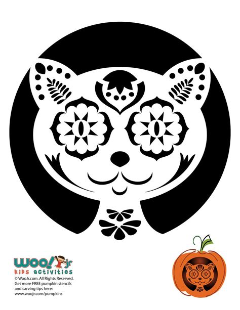 day of the dead pumpkin template day of the dead cat carving pattern woo jr activities