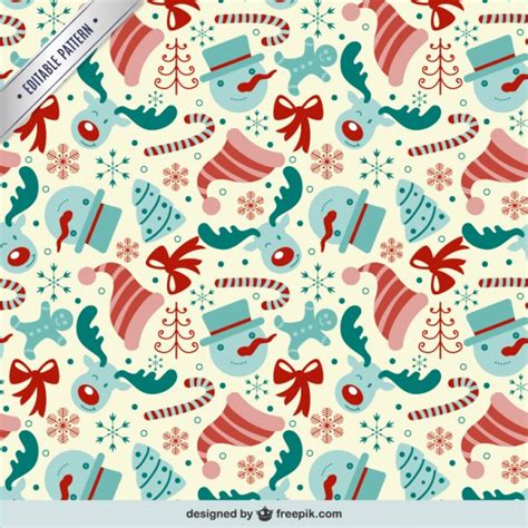 christmas patterns early years editable pattern with christmas elements vector free