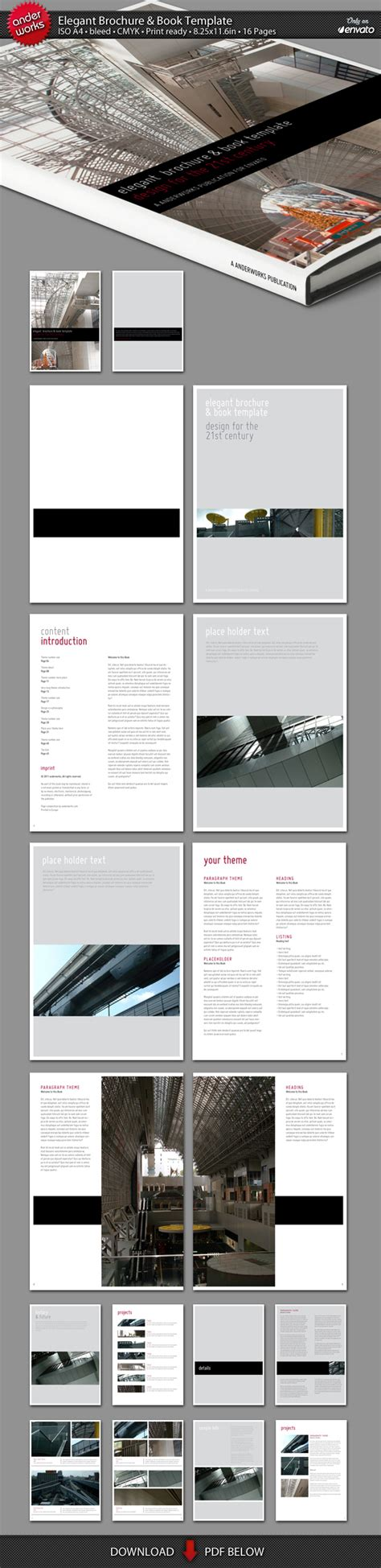 elegant brochure book template by isoarts2 on deviantart