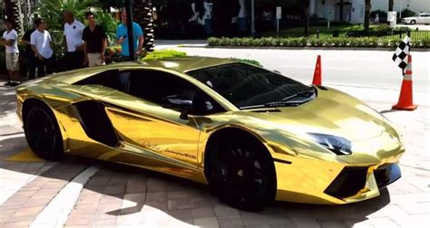 car lamborghini gold this gold plated lamborghini will you away