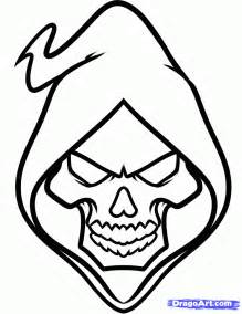 Drawing The Grim Reaper Colouring Pages sketch template
