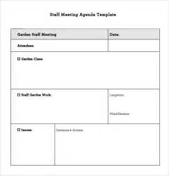 staff meeting templates staff meeting agenda 7 free sles exles format