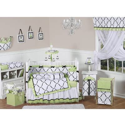 Black And Green Crib Bedding Princess Black White And Green Crib Bedding Collection