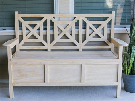 garden bench storage how to build an outdoor bench with storage hgtv
