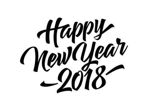 happy blessed new year 2018 free happy new year 2018 lettering vector free