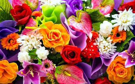 Floral Bouquets by Free Colorful Floral Bouquet Computer Desktop Wallpaper