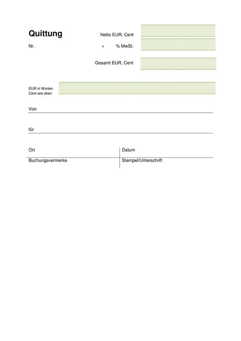 Rechnungsmuster Landwirtschaft Quittungsvorlage Kostenlos Herunterladen Vorlage Quittung