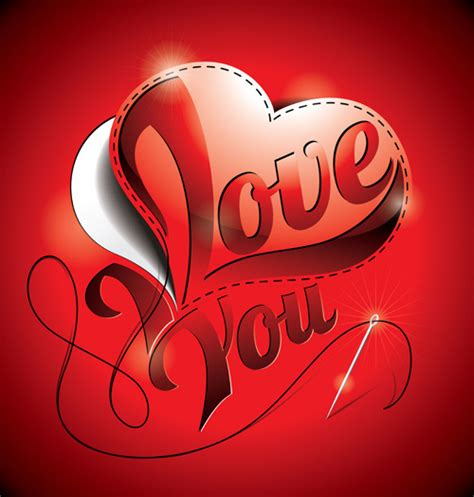 imagenes we love you i love you heart card vector free vector in encapsulated
