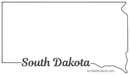 south dakota map outline printable state shape