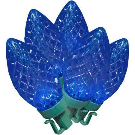 christmas lights cutting time led bright cut c9 lights blue 100 count walmart