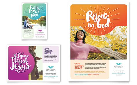 church flyer ad template design