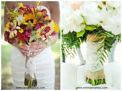 Wedding Bouquet Lace by Burlap And Lace Wedding Decorations The King And Prince