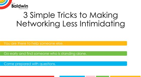 Simple Tricks To Make Your - three simple tricks to make networking less intimidating
