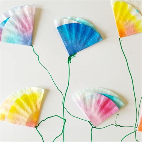 mini coffee filter flowers family crafts