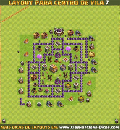 layout cv 7 defesa layouts de cv7 para clash of clans clash of clans dicas
