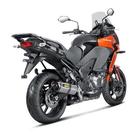 Kawasaki Versys 1000 2016 Slip On Line Titanium Partnos K10so14 Hzt akrapovic slip on exhaust kawasaki versys 1000 2015 2018 revzilla