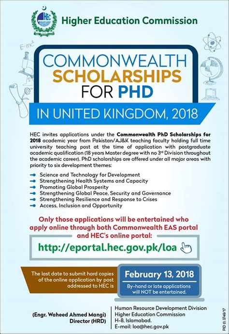 Mba Portal Hec by Commonwealth Scholarships For Phd In Uk 2018