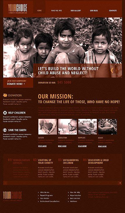 drupal themes nonprofit red charity drupal template template drupal and web