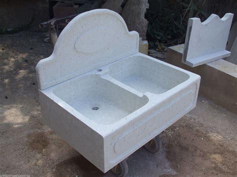 lavelli cucina in marmo lavello in cemento e graniglia di marmo di carrara di