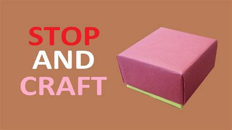 How To Make A Small Gift Box Out Of Paper - how to make a gift box from cardboard or paper