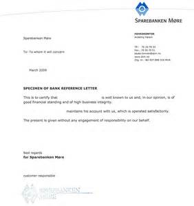 Endorsement Letter For Bank Account Opening Sle Bank Reference Letters Starting Business