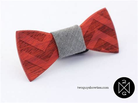 two guys craft bow ties from reclaimed wood fabric