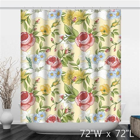 hand painted shower curtain hand painted rose floral polyester shower curtain custom