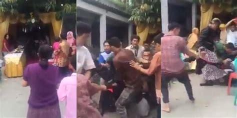 Kursi Tamu Undangan mengamuk di pernikahan mantan lelaki ini dihajar tamu
