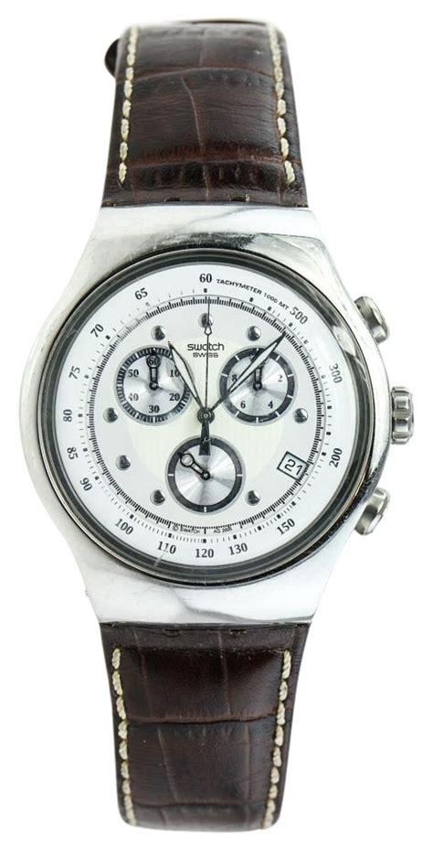 Swatch Irony Chronograp Original swatch irony chronograph leather tradesy