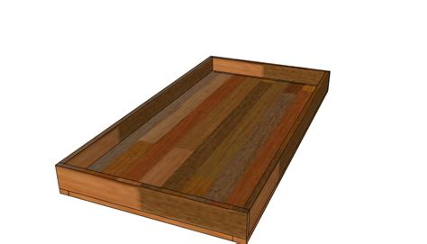 the quaint cottage simple wooden underbed storage drawer