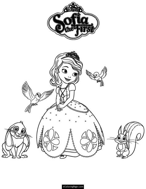 sofia coloring pages pdf sofia the first and friends coloring page for kids
