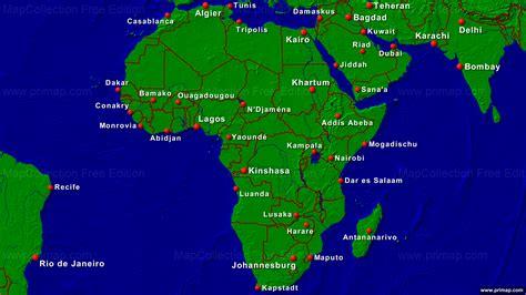Towns In Usa primap kontinentalkarten