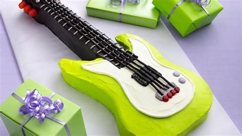 guitar templates for cakes electric guitar cake recipe from betty crocker