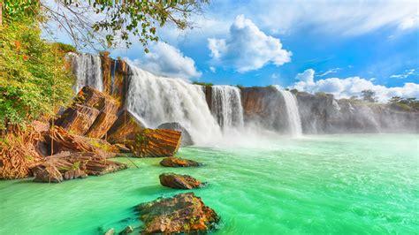 high quality vietnam waterfalls wallpaper background