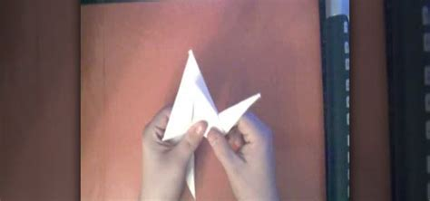 how to make an origami crane from a sheet of printer paper