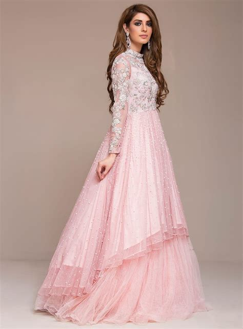 pink designer wedding dresses blush pink gown