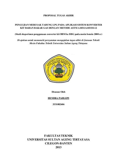 format proposal judul tugas akhir proposal tugas akhir hendra