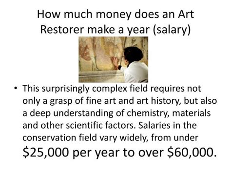 how much make up for a 68 year old woman ppt career in art art conservationist restorer