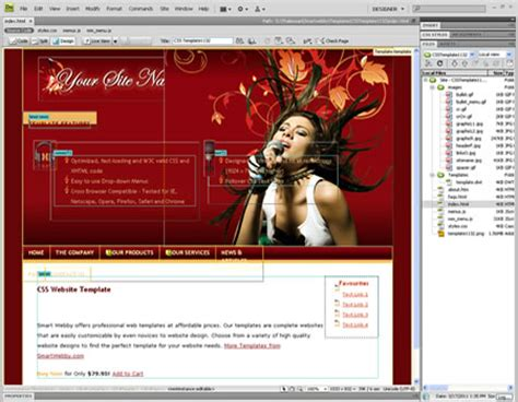 Blazing Maroon Template Dreamweaver Web Templates